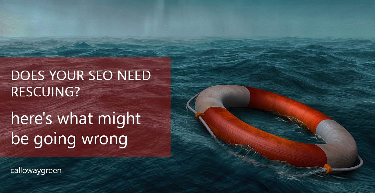 Does Your SEO Need Rescuing? Here's What Might Be Going Wrong