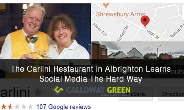 The Carlini Restaurant in Albrighton Gets Schooled in Social Media