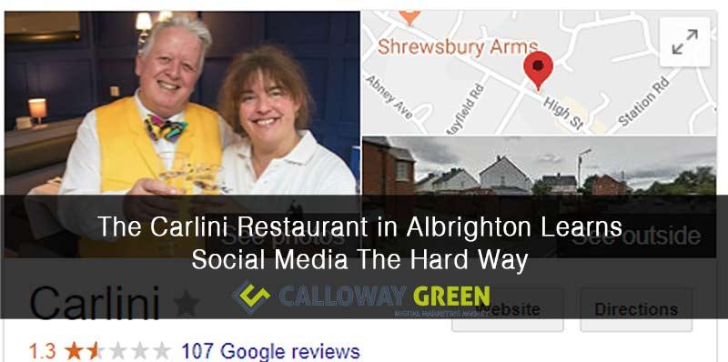 The Carlini Restaurant in Albrighton Gets Schooled in Social Media